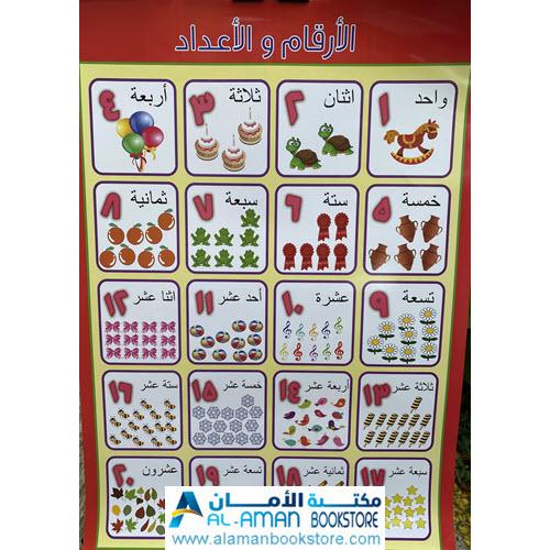 Al-Aman Bookstore - Arabic & Islamic Bookstore in USA - بوستر الأرقام - لوحة الأرقام