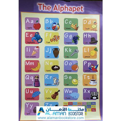 Al-Aman Bookstore - Arabic & Islamic Bookstore in USA - بوستر الحروف الانكليزية - لوحة الحروف الانكليزية