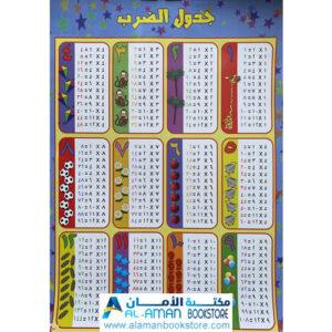 Al-Aman Bookstore - Arabic & Islamic Bookstore in USA - بوستر جدول الضرب - لوحة جدول الضرب